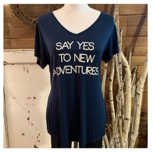 ❤️ Apt 9 navy blue Adventures t shirt